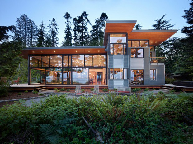 fancy glass home