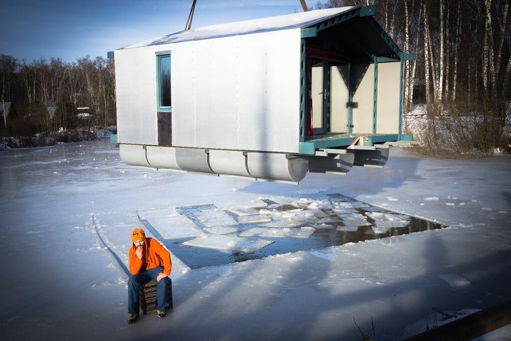off grid mini cabin