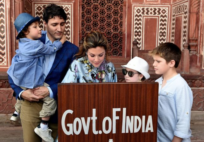 Canadian prime minister visit to India pictures