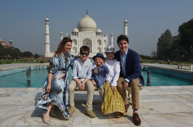 canadian prime minister with family