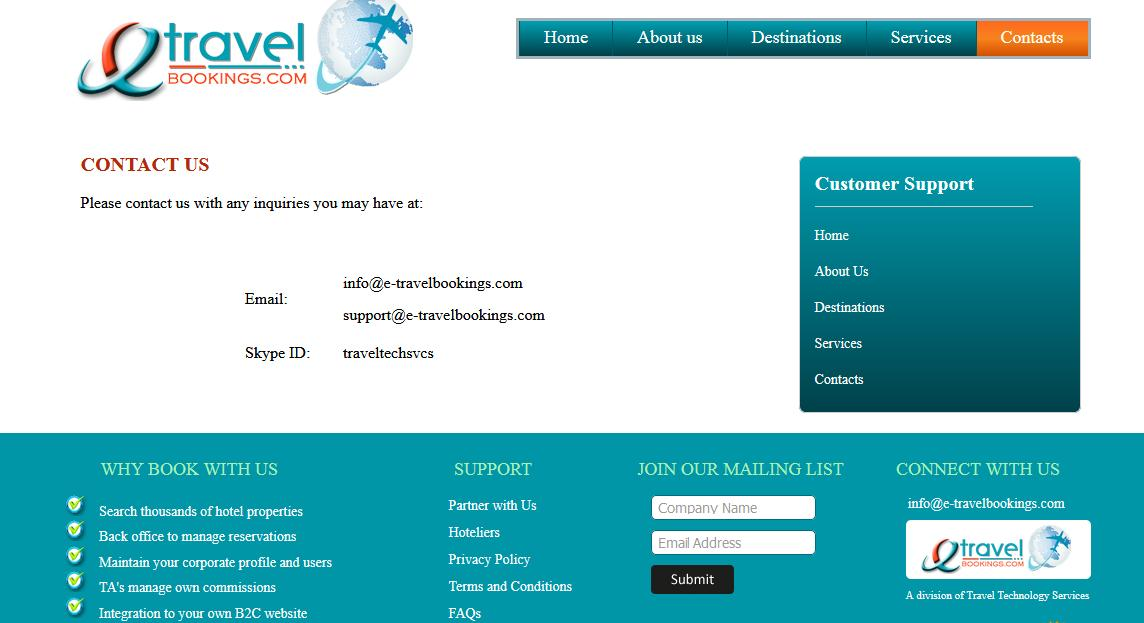 online travel booking